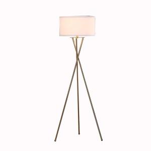 Moderní stativová stojací lampa, kartáčovaná mosazná niklová stativová stojací lampa |  Dobře světlo-GL-FLM04