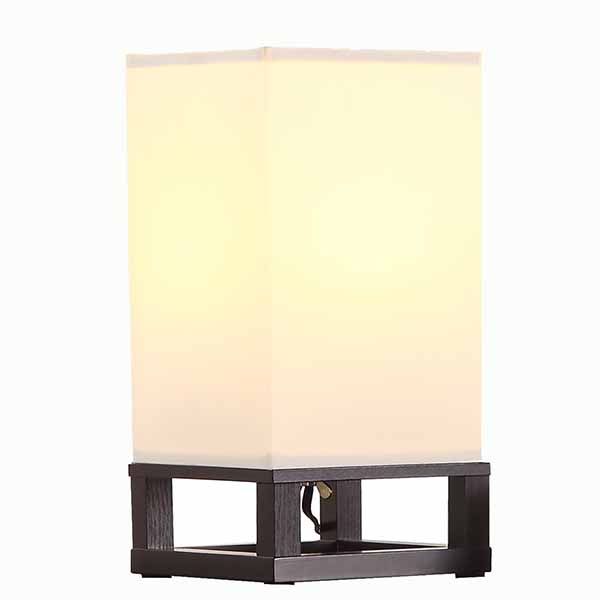 Modern Nightstand Lamp with Square Fabric Lamp Shade 1