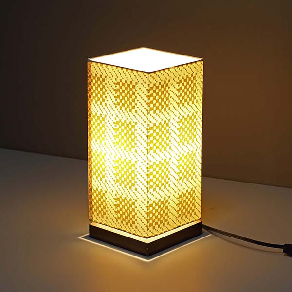 Modern Nightstand Lamp with Square screen nice Fabric Lamp Shade 3