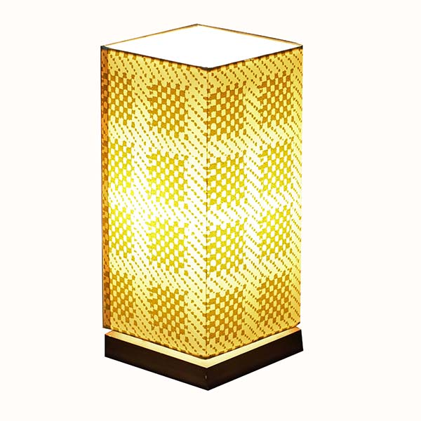 Modern Nightstand Lamp with Square screen nice Fabric Lamp Shade 4