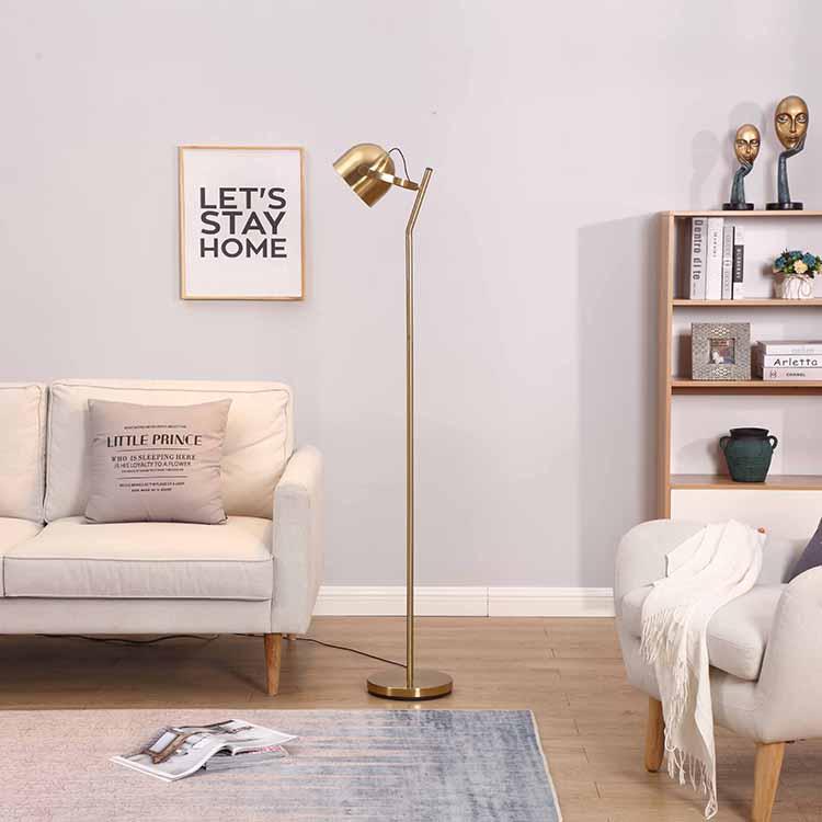 Mordern 3 ways dimmable Brass Floor Lamp 1