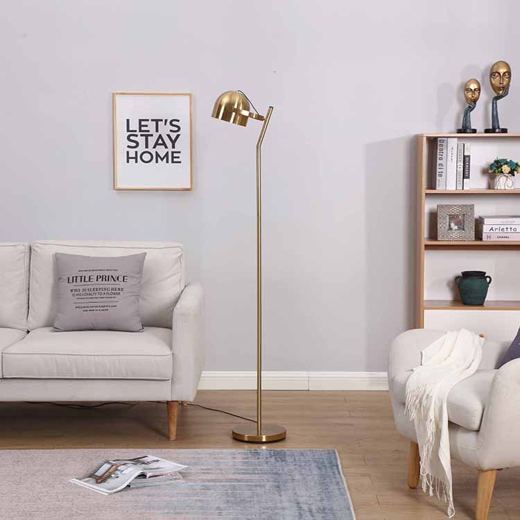 Mordern 3 ways dimmable Brass Floor Lamp 2