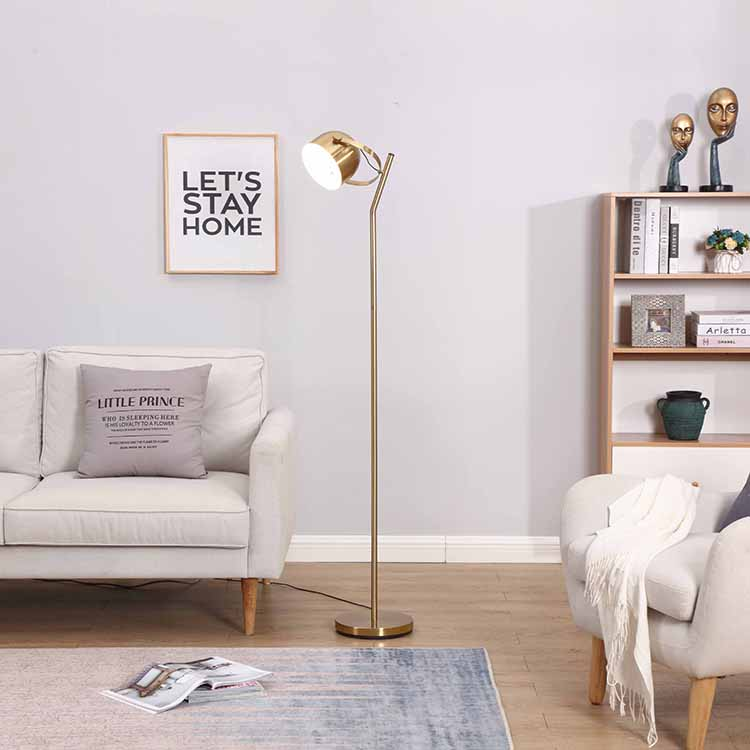 Mordern 3 ways dimmable Brass Floor Lamp 3