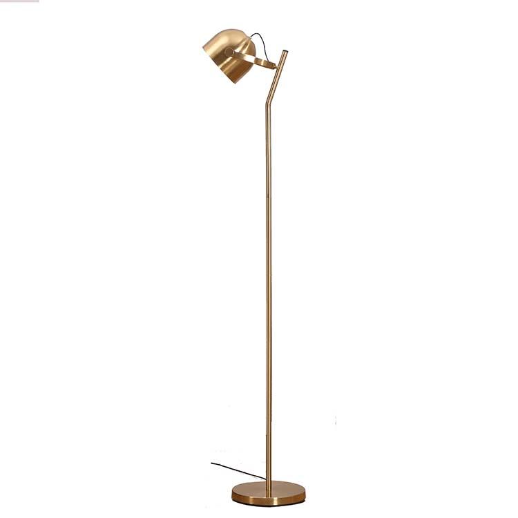 Mordern 3 ways dimmable Brass Floor Lamp