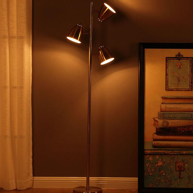 Mordern Metal 3-Light Tree Floor Lamp 3