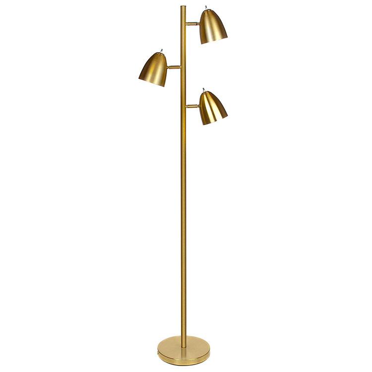Mordern Metal 3-Light Tree Floor Lamp