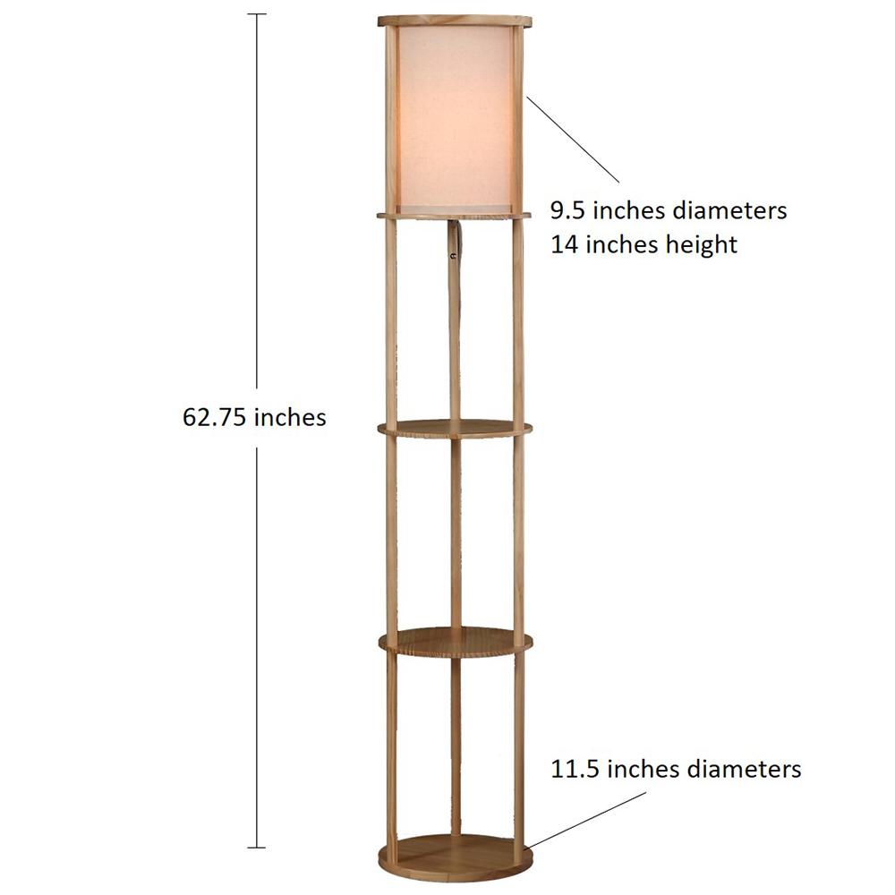 Natural Wood Floor Lamp-2