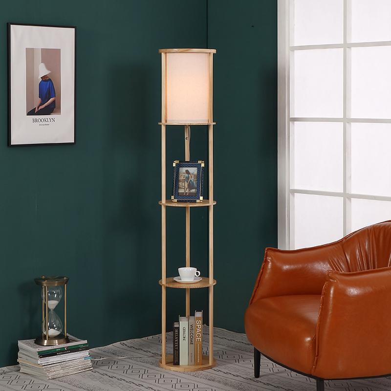 Natural Wood Floor Lamp-3