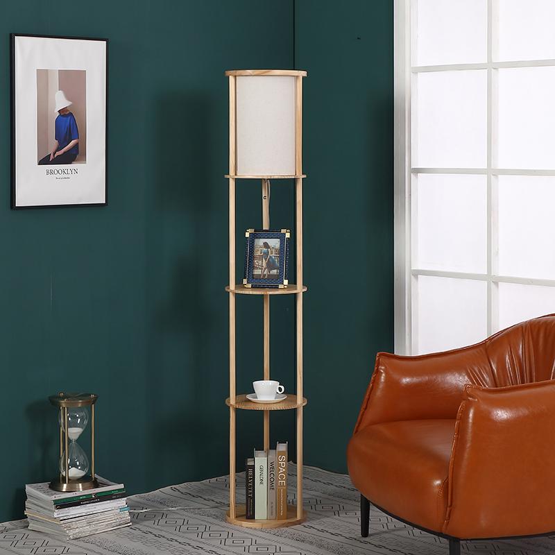 Natural Wood Floor Lamp-4