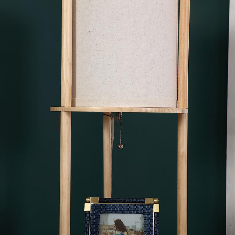 Natural Wood Floor Lamp-5