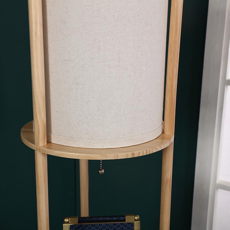 Natural Wood Floor Lamp-7