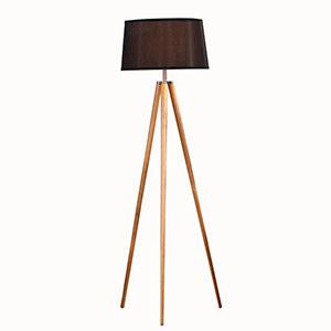 Lampa Urlár Tripod Adhmaid Nádúrtha-300x300