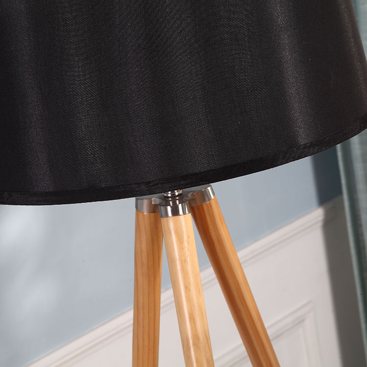 Natural Wood Tripod Floor Lamp-details 2