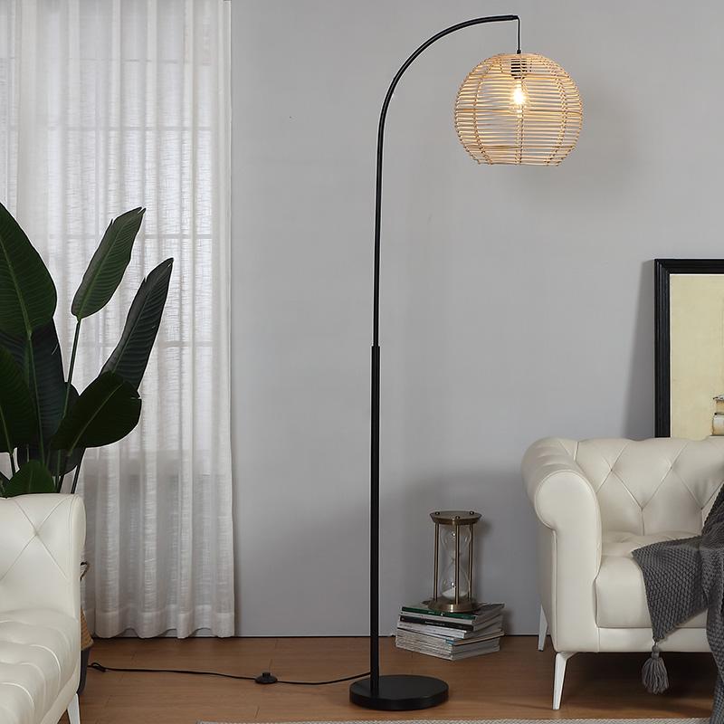 Rattan Floor Lamp-2