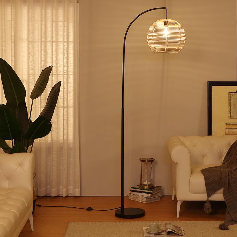 Rattan Floor Lamp-3