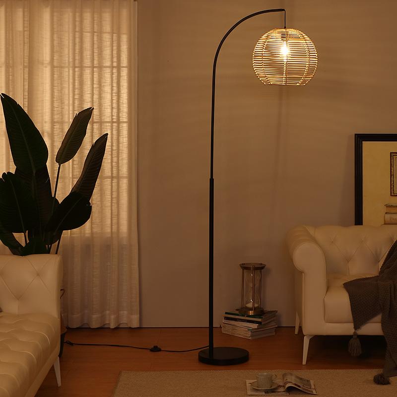 Rattan Floor Lamp-4