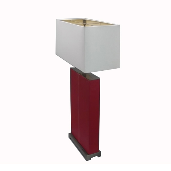 Red Leather Table Lamp 3