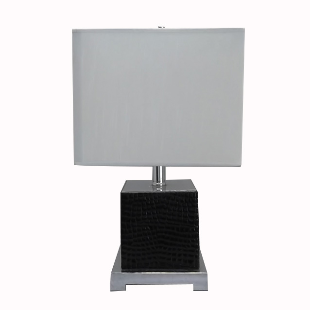 leather table lamp | rectangular table lamp | Goodly Light-GL-TLM025 Featured Image