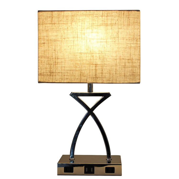 SILVER NIGHTSTAND LAMPS