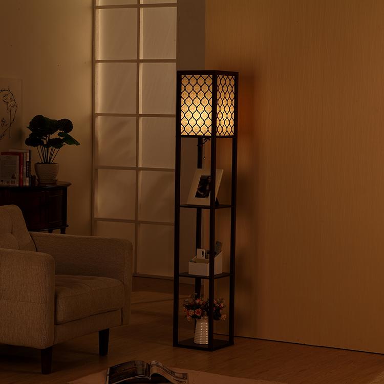 Shelf Floor Lamp-Coffee2
