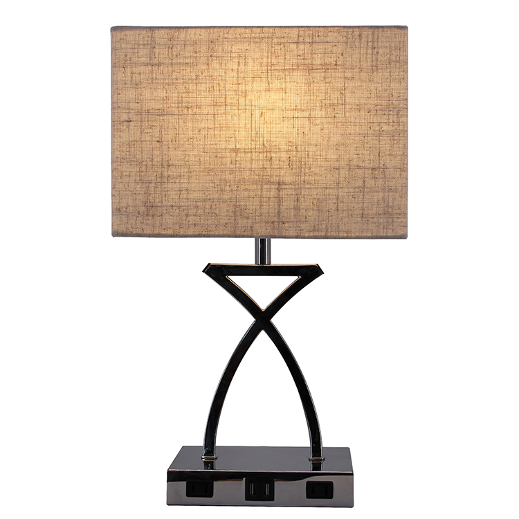 Silver Nightstand Lamp 2