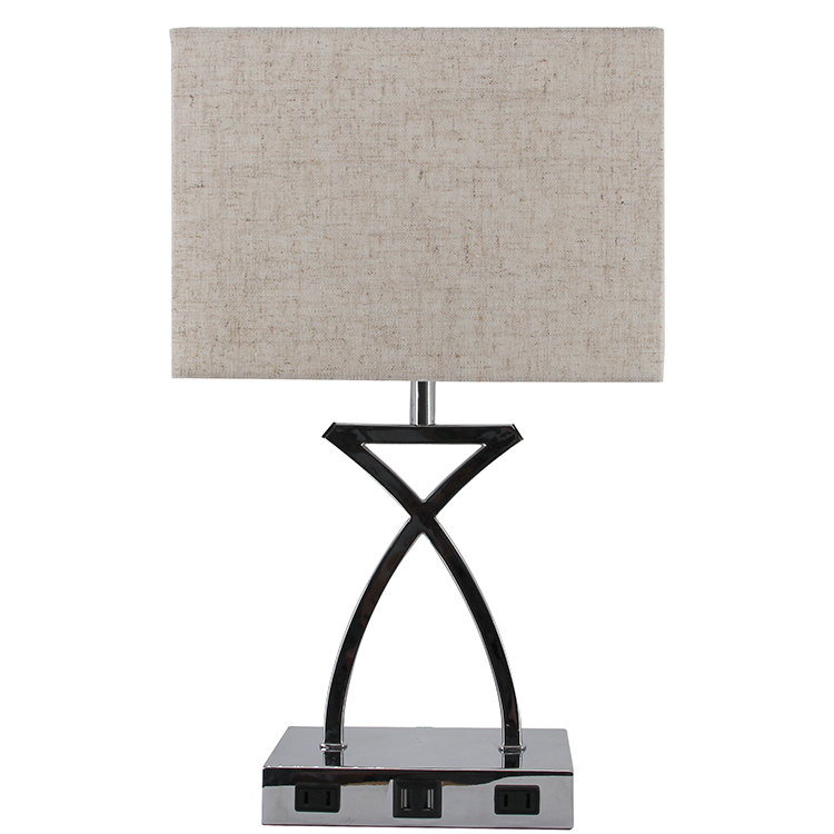 Silver Nightstand Lamp 3