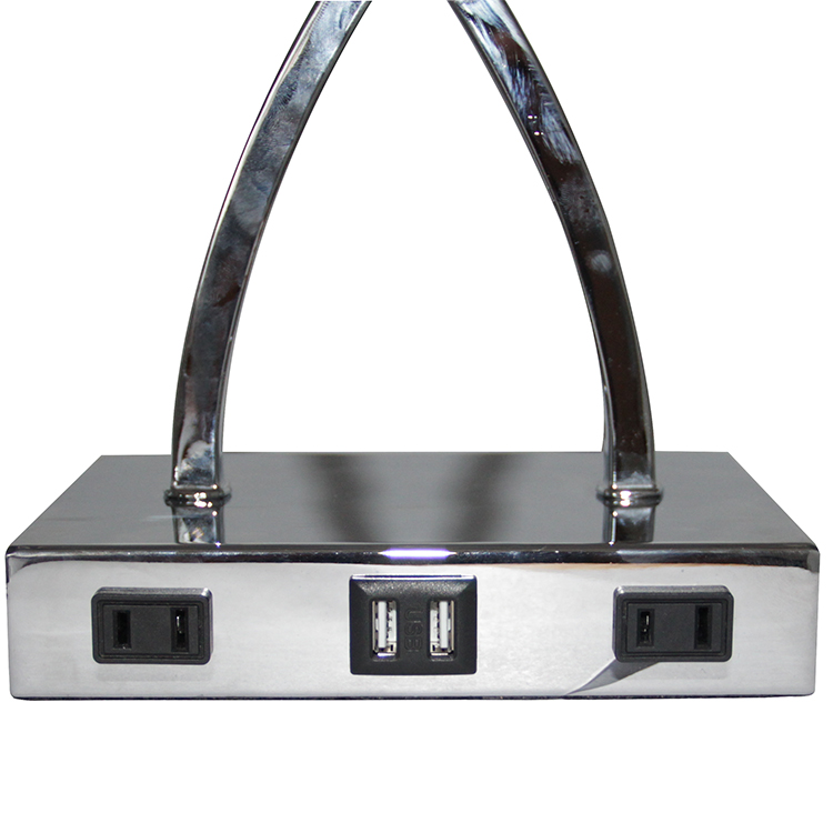 Silver Nightstand Lamp 4