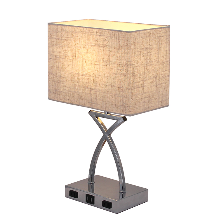 Silver Nightstand Lamp 5