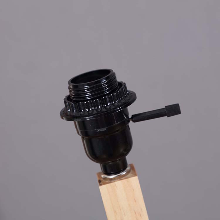 Solid Natural Wood Tripod Floor Lamp details 2