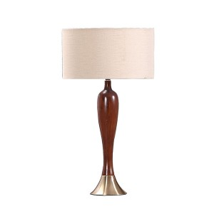vintage table lamp,wood and metal table lamp | Goodly Light-GL-TLW088