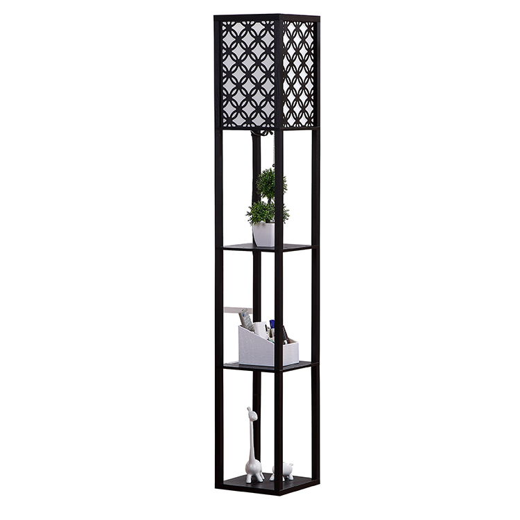 TOWER LAMP WITH SHELVES