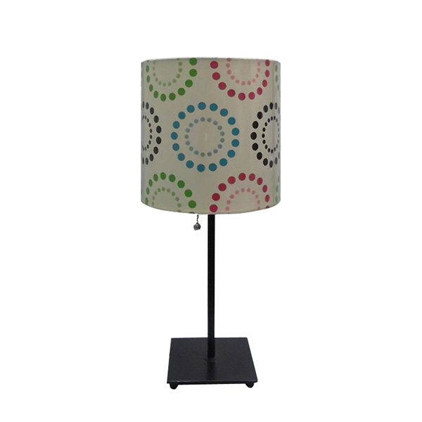 Table Lamp With Black Metal Square Base 1