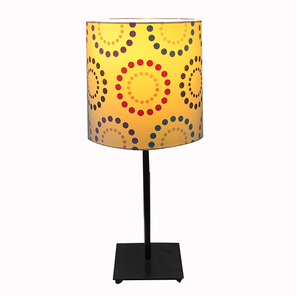 Table Lamp With Black Metal Square Base 2