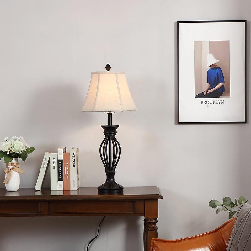 Table Lamp Wood Base-3