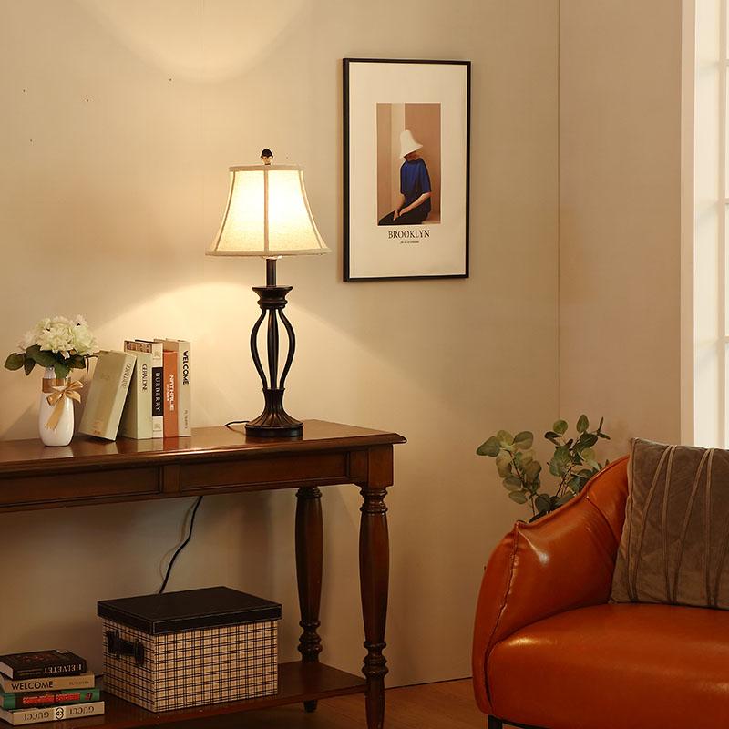 Table Lamp Wood Base-4