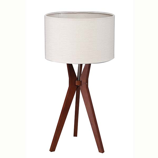 Tripod Solid Wood Table Lamp with Natural Wooden Tripod Base 2