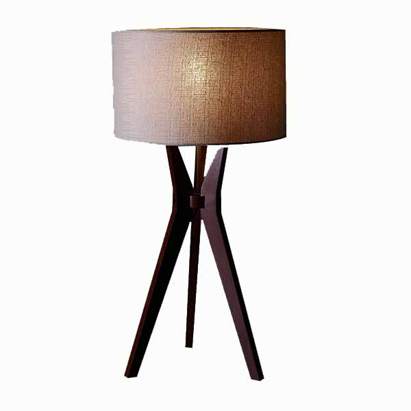 Tripod Solid Wood Table Lamp with Natural Wooden Tripod Base 3