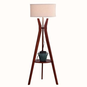 moderní stativová stojací lampa v polovině století, stojací stojanová lampa s policí |  Dobře světlo-GL-FLW012