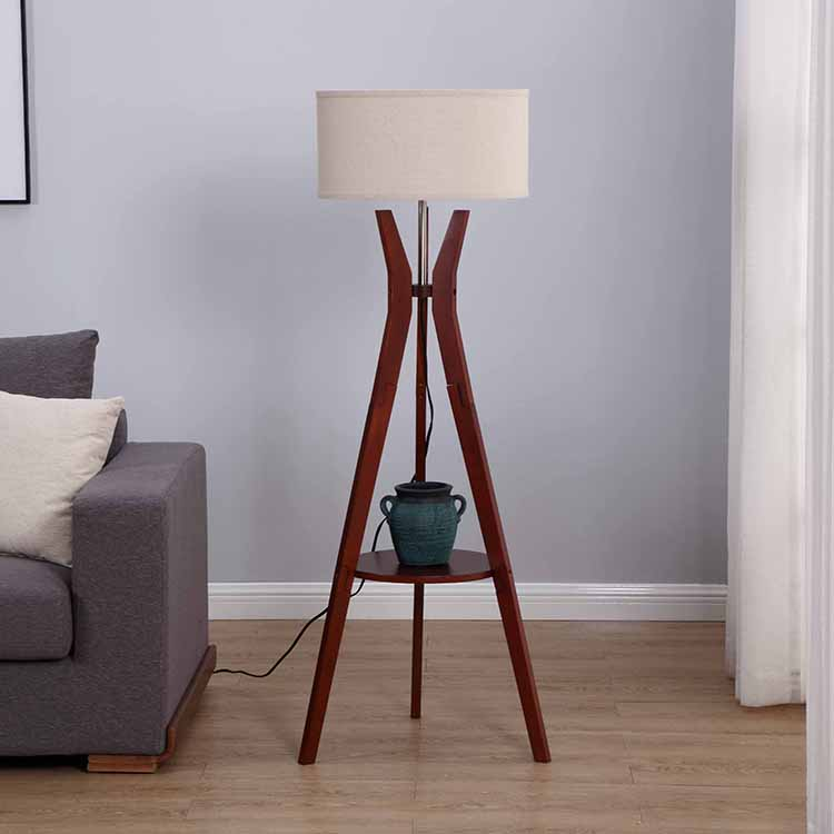Tripod Storage Floor Lamp with shelf 2