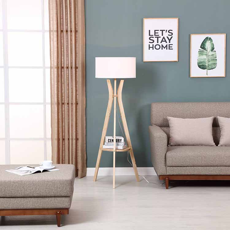 Tripod Storage Floor Lamp with shelf 3