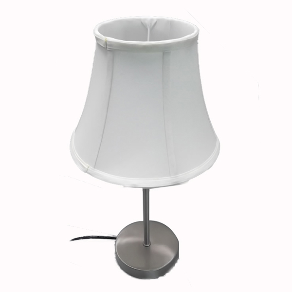 White Fabric Shade Table Lamp 2