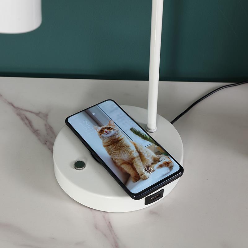 White Metal Table Lamp-4