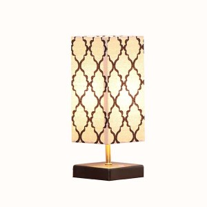 Wood Table Lamp OEM Design  with USB Charging Port 1
