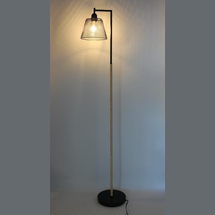 Wood and Metal Floor Lamp-3