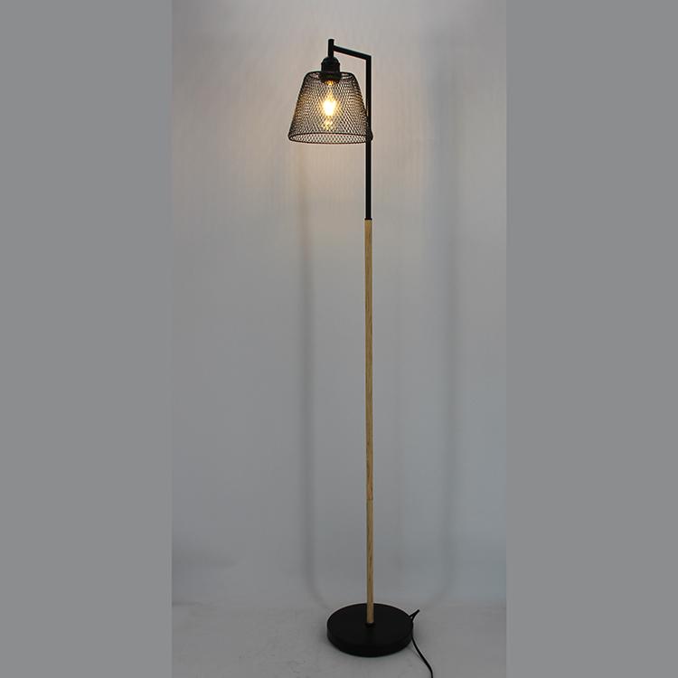 Wood and Metal Floor Lamp-5