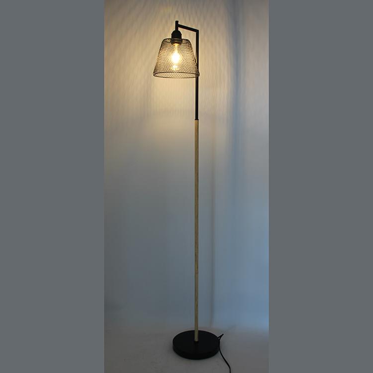 Wood and Metal Floor Lamp-6