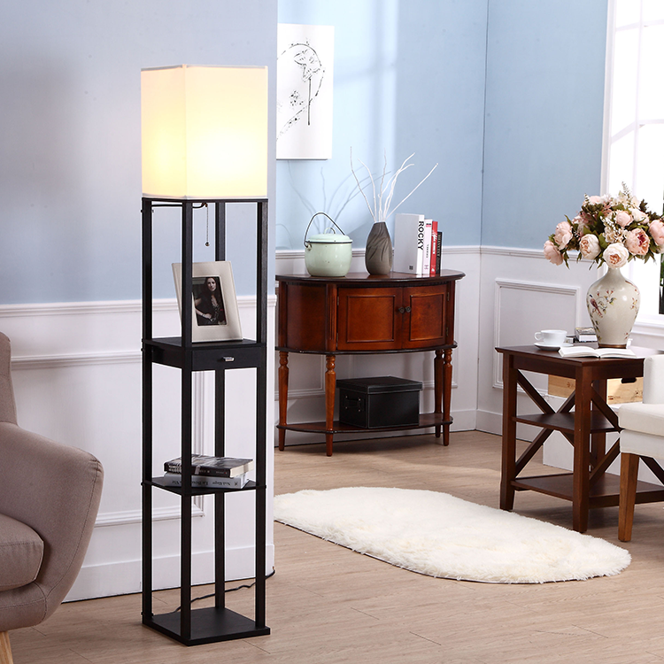 black floor lamp with a drawer3