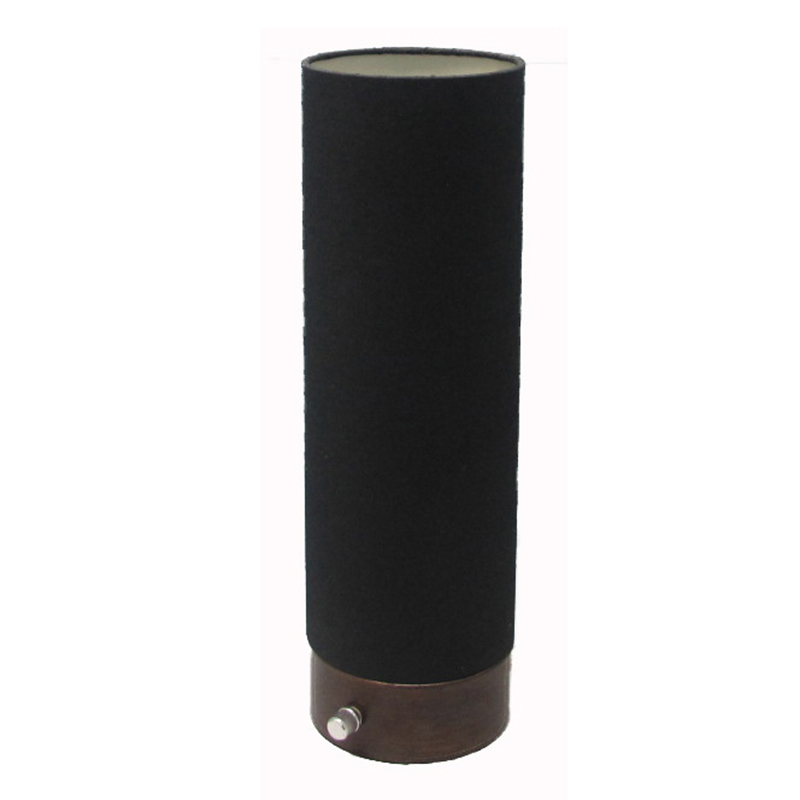 Tall Black Table Lamp Cylinder Goodly Light