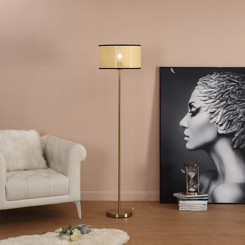 brushed gold floor lamp-2