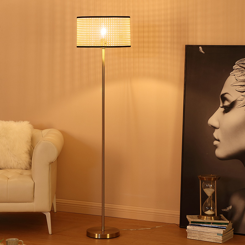 brushed gold floor lamp-4